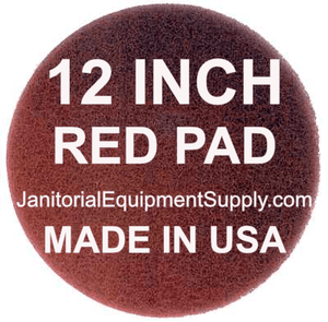 ORECK ORBITER 12 inch Red Pad | Polishing Buffing Pads - 5 Pack