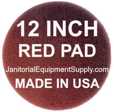 12 inch Red Polishing Cleaning Pad | 5 Pack