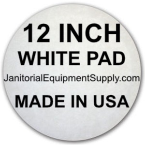 12 inch White Polishing Polish Pad | 5 pack