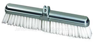 14 inch Steel Back Deck Scrub with Extra Stiff Bristles | 5 Pack