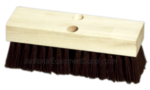 14 inch Wood Block Deck Scrub Brush