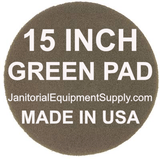 15 inch Green Pad | Scrubbing Cleaning Pads - 5 pack