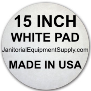15 inch White Pad | Polishing Buffing Pads - 5 Pack
