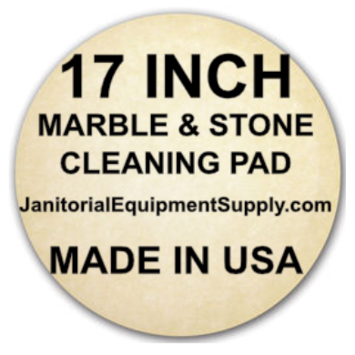 "17"" Beige Marble Cleaning Pad 