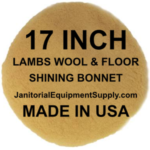 "17"" Floor Machine Lambs Wool Shining Bonnet"