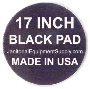 17 inch Black Pad | Stripping Scrubbing Pads - 5 pack
