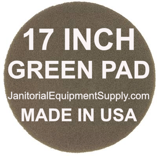 17 inch Green Pad | Scrubbing Cleaning Pads - 5 pack