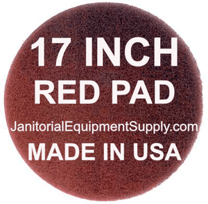 17 inch Red Pad | Polishing Buffing Pads - 5 Pack