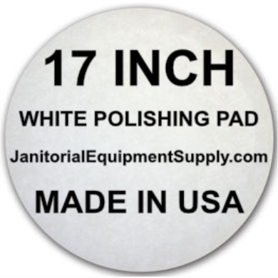 17 inch White Pad | Polishing Buffing Pads - 5 Pack