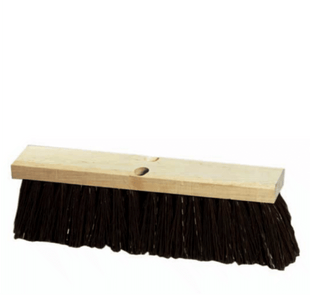 18 inch Extra Stiff Street Sweeper Push Broom Head | 5 Pack