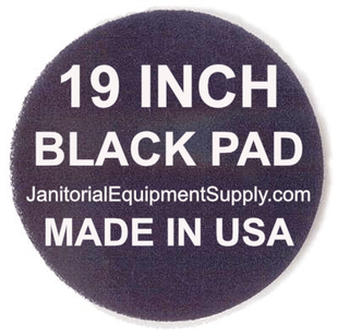 19 inch Black Pad | Stripping Scrubbing Pads - 5 pack