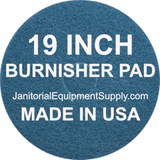 "19"" Blue Pad Floor Burnishing High Speed Pads 