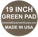 19 inch Green Pad | Scrubbing Cleaning Pads - 5 pack