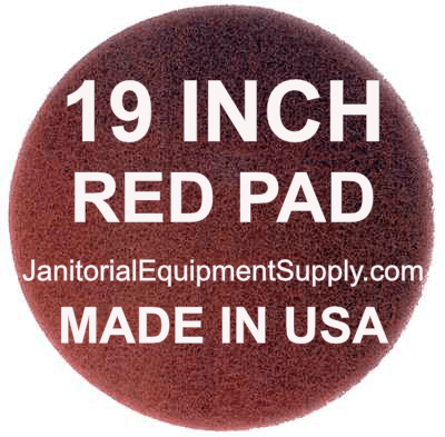19 inch Red Pad | Polishing Buffing Pads - 5 Pack
