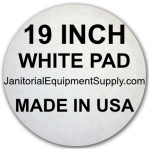 19 inch White Pad | Polishing Buffing Pads - 5 Pack