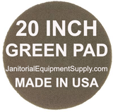 20 inch Green Pad | Scrubbing Cleaning Pads - 5 pack