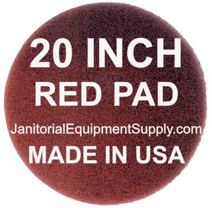 20 inch Red Pad | Polishing Buffing Pads - 5 Pack