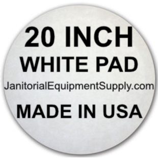 20 inch White Pad | Polishing Buffing Pads - 5 Pack
