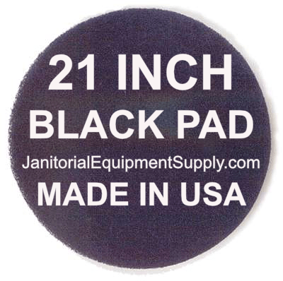 21 inch Black Pad | Stripping Scrubbing Pads - 5 pack