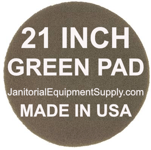 21 inch Green Pad | Scrubbing Cleaning Pads - 5 pack