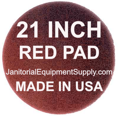 21 inch Red Pad | Polishing Buffing Pads - 5 Pack