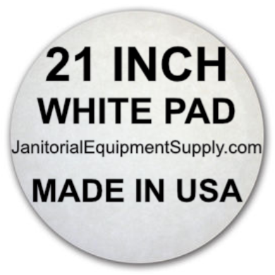 21 inch White Pad | Polishing Buffing Pads - 5 Pack