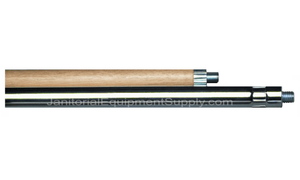 5 FT. Wood & Steel Broom Handle - 2 Piece 3/8 Stud
