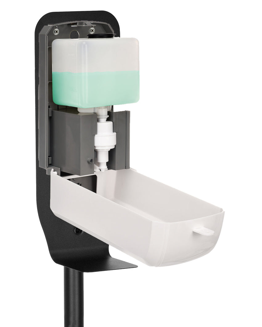 ALPINE Automatic Hands-Free Hand Sanitizer Dispenser with Floor Stand