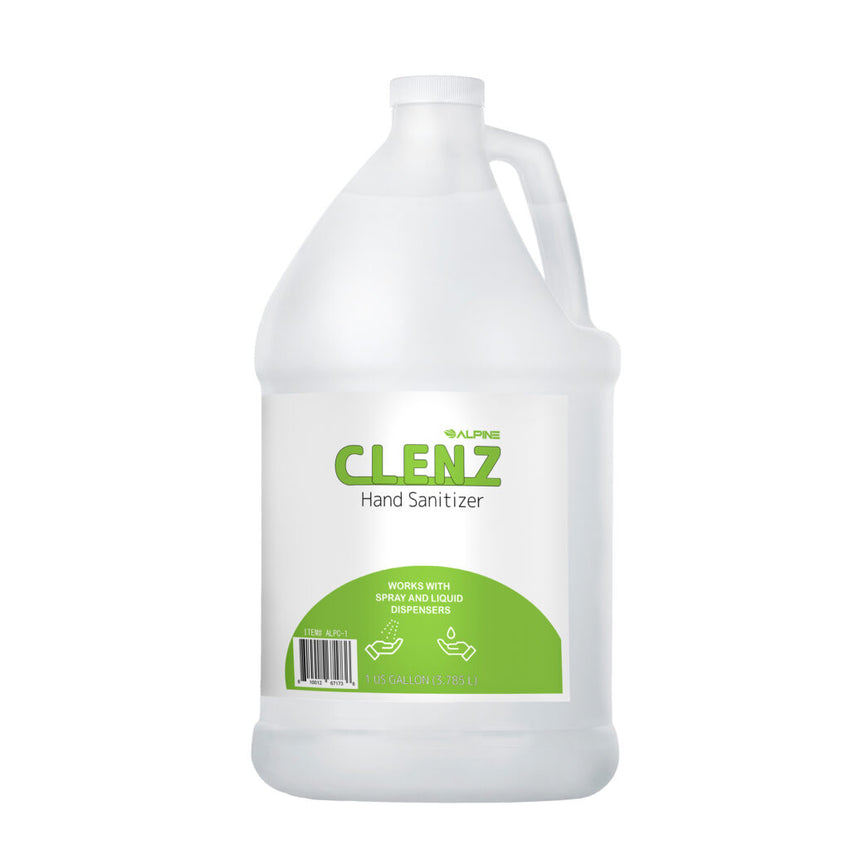 ALPINE ALPC-1 CLENZ Instant Hand Sanitizer 1 Gallon / 128oz Case