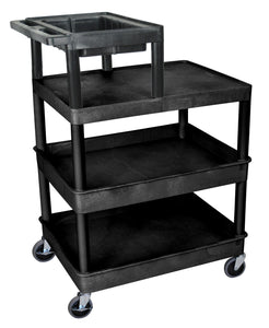 Automotive Cart with 3 Shelves and Work Tray