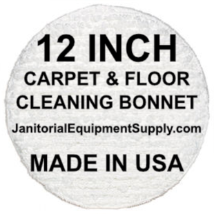 12 inch Floor Cleaning Bonnet | Carpet Bonnet