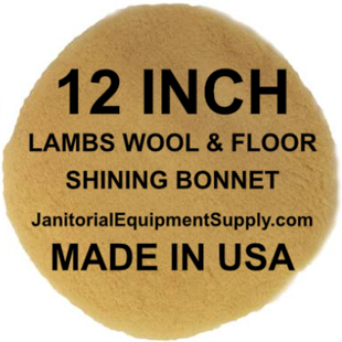 12 inch Lambs Wool Floor Shining Bonnet