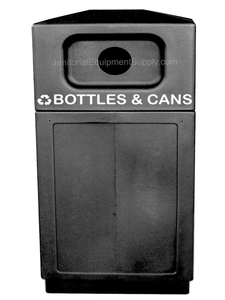 FORTE 8002555 | Black 39 Gallon Recycle Bin for Bottles & Cans