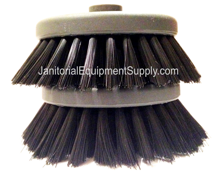 "CaddyClean® Black 4"" Soft Scrub Brushes Light Duty 0.25 Bristles"