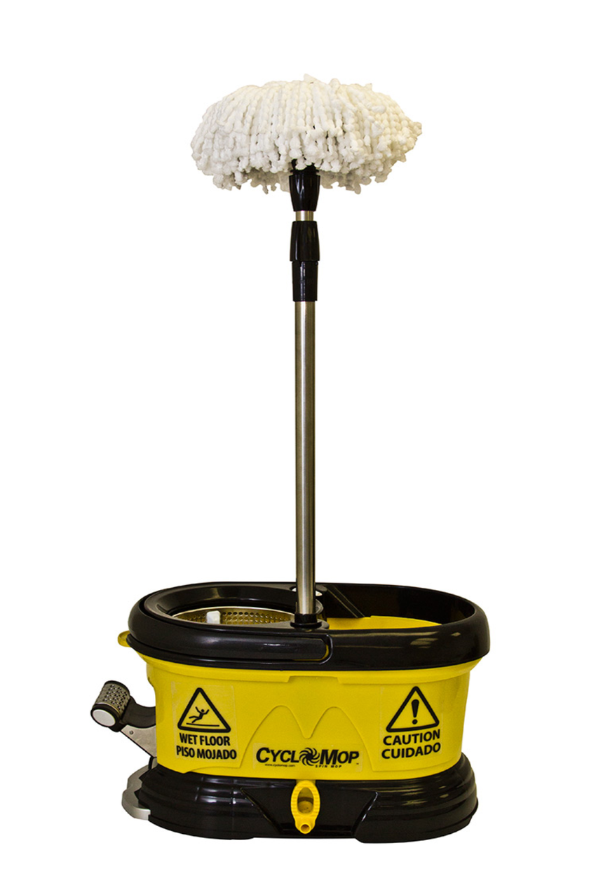 Cyclomop 174 Commercial Spin Mop With Dolly Wheels Bucket