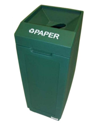 FORTE® 8001837 | Green 39 Gallon Paper Recycle Bin