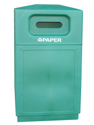 FORTE® 8001946 | Green 39 Gallon Paper Recycle Bin