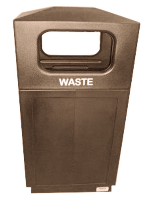 FORTE® 8001899 | Brown 39 Gallon Trash Can