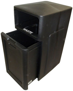 FORTE® 8001949 | Black 42 Gallon Trash Can with Pull Out Drawer