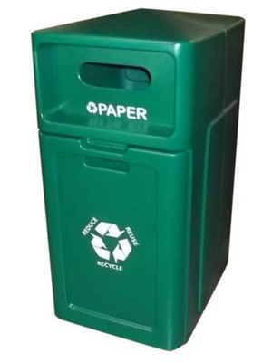 FORTE® 8001953 | Green 42 Gallon Paper Recycle Bin