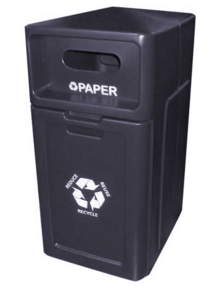 FORTE® 8001956 | Black 42 Gallon Paper Recycle Bin