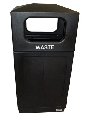 FORTE® 8001995 | Black 39 Gallon Trash Can