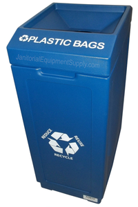 FORTE® 8002038 | Blue 39 Gallon Plastic Bags Recycle Bin