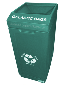 FORTE® 8002064 | Green 39 Gallon Plastic Bags Recycle Bin