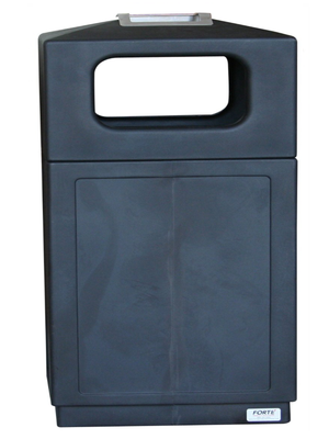 FORTE® 8002155 | Black Trash Can with Ashtray