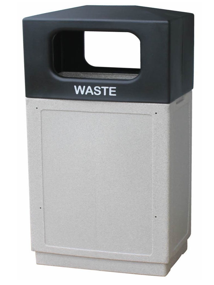 FORTE® 8002530 | Granite 39 Gallon Trash Can with Hooded Top