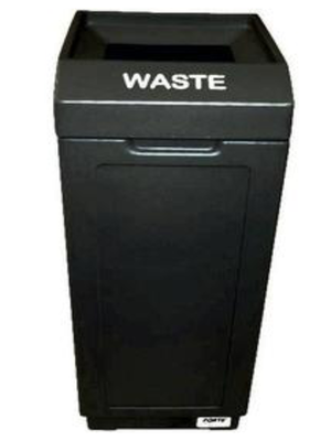 FORTE® 8001460 | Black 39 Gallon Open Top Trash Can