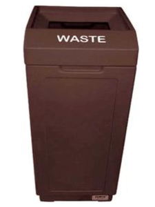 FORTE® 8001989 | Brown 39 Gallon Open Top Trash Can