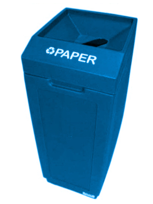 FORTE® 8001838 | Blue 39 Gallon Paper Recycle Bin