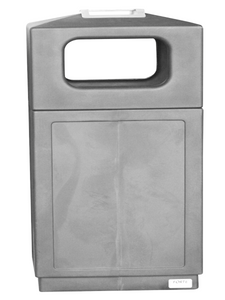 FORTE® 8002156 | Grey Trash Can with Ashtray